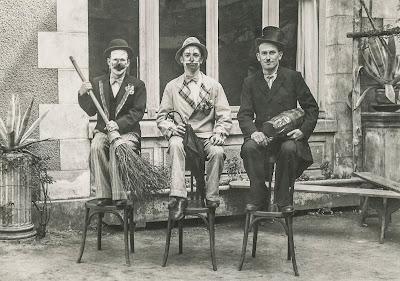 Photo de 1938 « Les joyeux Fantaisistes » : Georges Berrué, Gilbert Trousselet et Pierre Bellanger.
