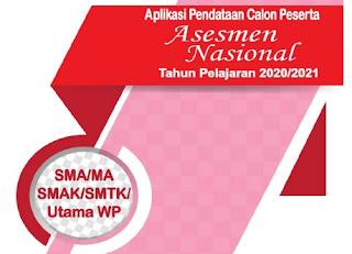 Download Aplikasi Pendataan Calon Peserta Asesmen Nasional 2020/2021 Jenjang SMA sederajat