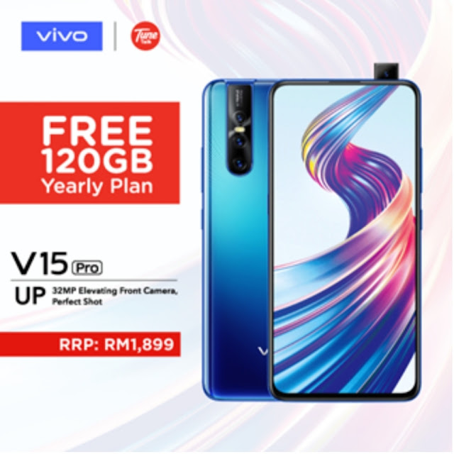GRAB YOUR UPGRADED VIVO V15PRO WITH 8GB RAM AT TUNETALK AND GET FREE 120GB YEARLY ONLINE PLAN EXCLUSIVELY