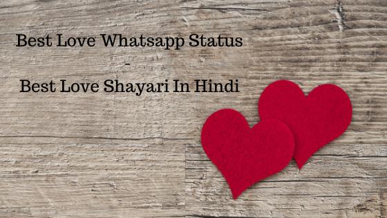 Best Love Whatsapp Status - Best Love Shayari In Hindi