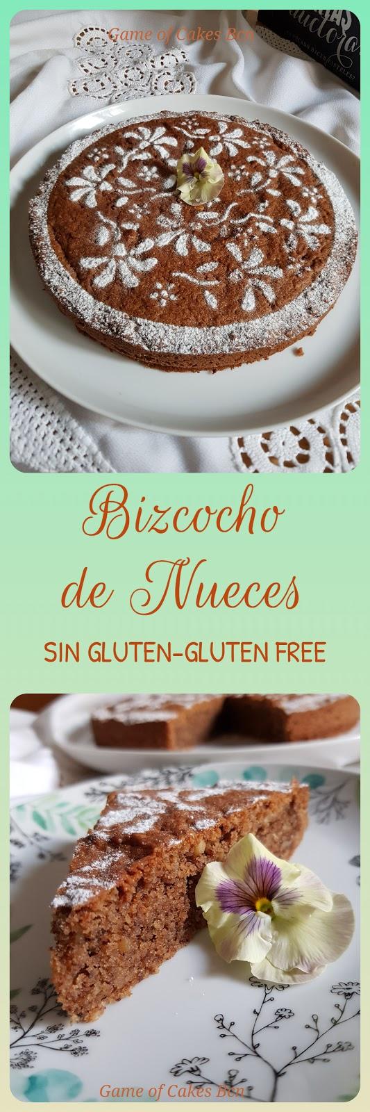 Bizcocho sin gluten de harina de nueces Game of Cakes Bcn