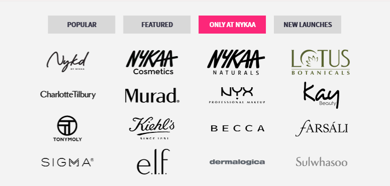 Nykaa Products Brands