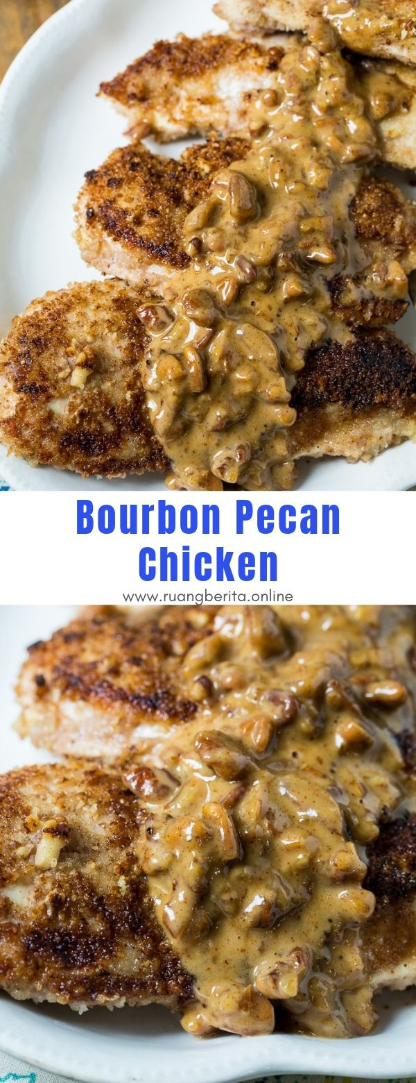 Bourbon Pecan Chicken #dinner #maincourse #bourbon #pecan #chicken