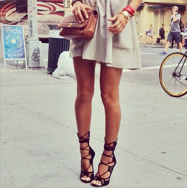 White Platform Gladiator Shoes