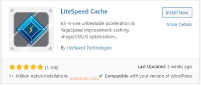 instal plugin LiteSpeed Cache