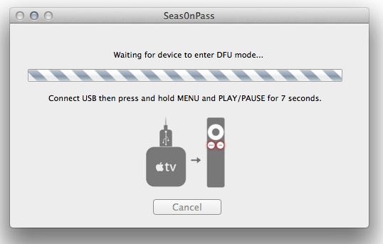 Jailbreak Apple TV 2nd Generation Seas0nPass DFU Mode
