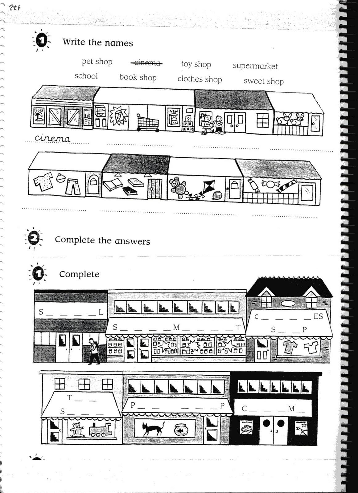 Fichas De Ingles Ficha Shops 1 Shops Worksheets