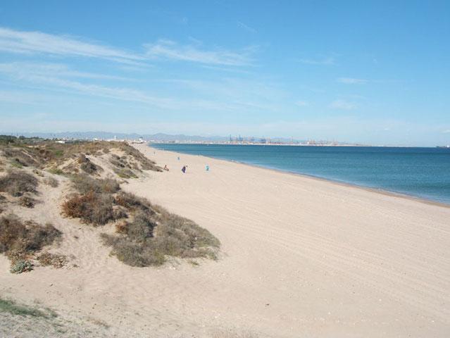Praia El Saler em Valencia