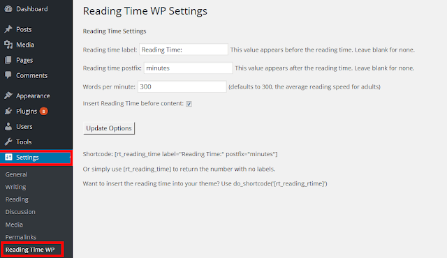 show your estimated reading time in your WordPress posts