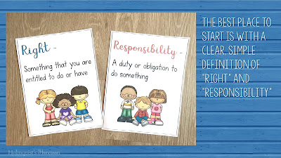 two signs that explain rights and responsibilities