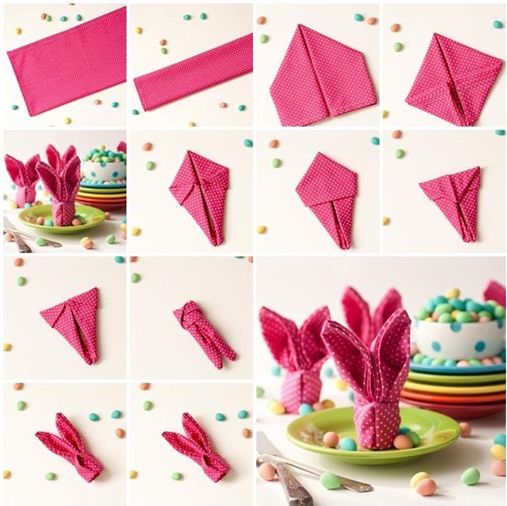 diy como hacer servilleta en forma de conejo para decorar en pascuas semana santa happy easter