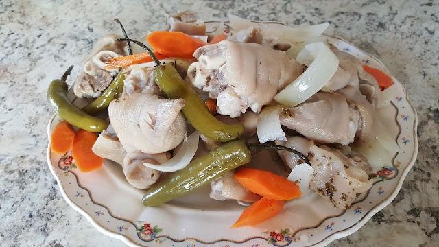 ensalada de patitas receta peruana