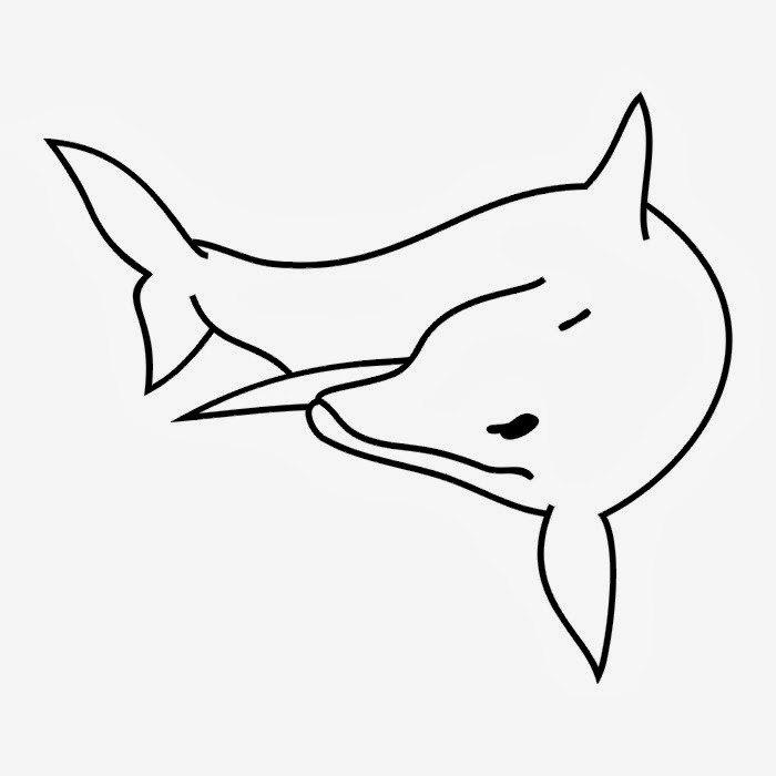 Dolphin tattoo stencil