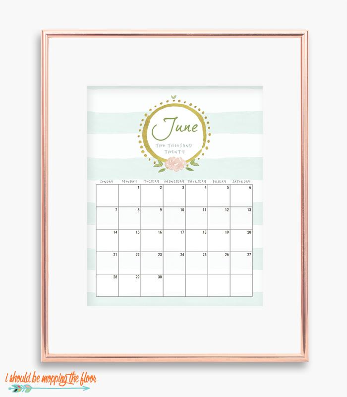 June French Calendar