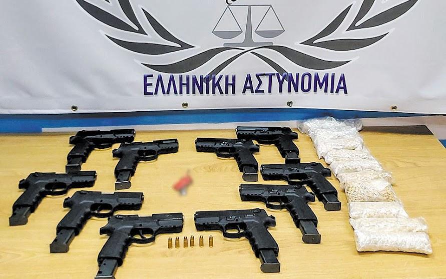 Κατάσχεση όπλων made in Turkey στον Έβρο