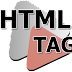 List of HTML tags