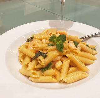 Delicious Penne with Prawns