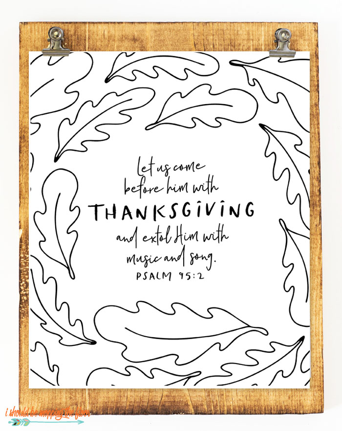 Six Thanksgiving Scripture Printables |i should be mopping ...