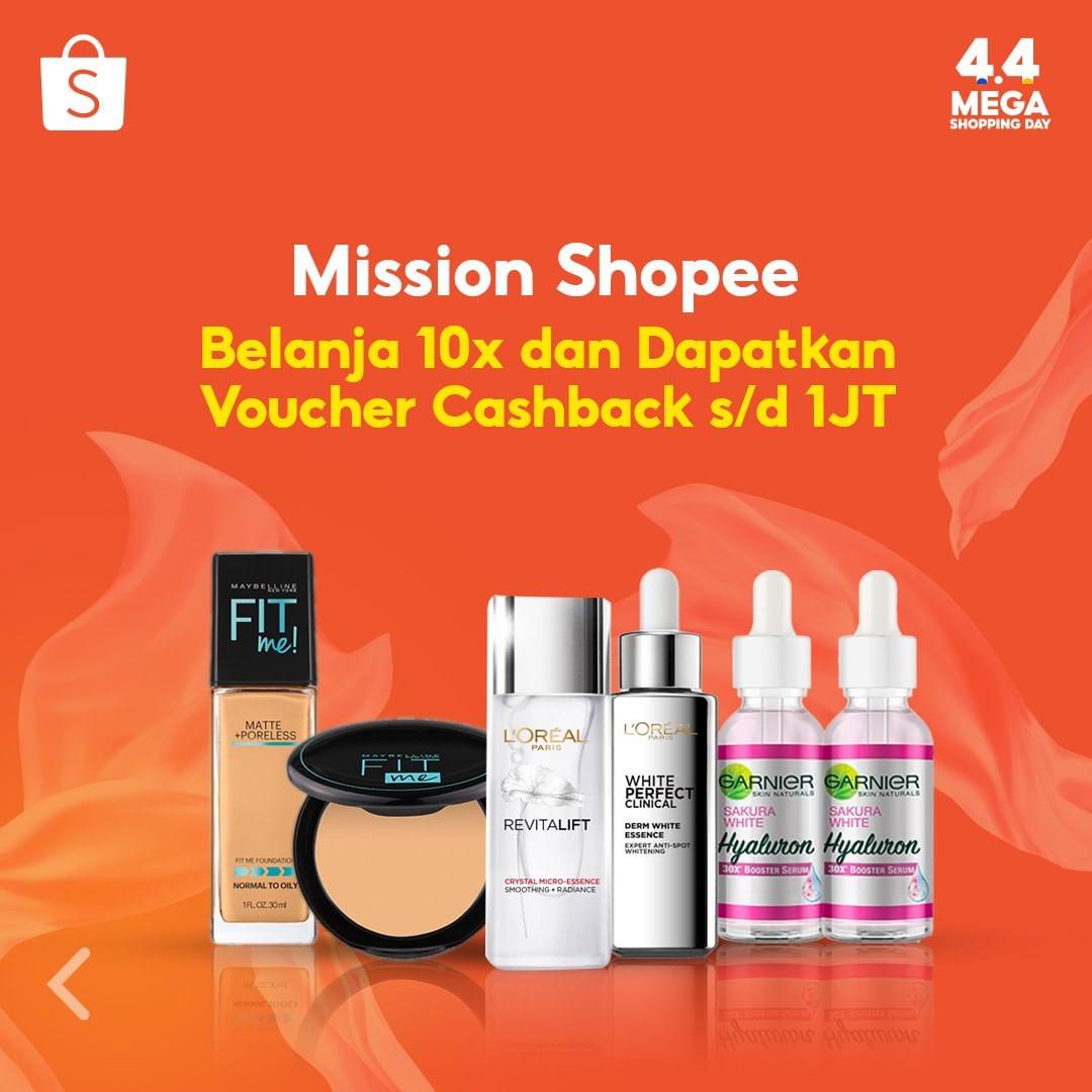 Shopee L'OREAL Promo Super Brand Day DISKON 70% + FREE PRODUCTS!