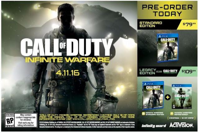 This Week In Videogames – 01/05/2016 call of duty cod infinte warfare leak canada price