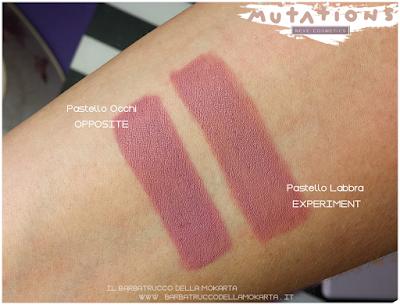 comparazioni opposite BioPastello occhi - Collezione Mutations - Neve cosmetics