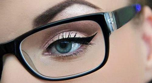 cejas de chicas con lentes