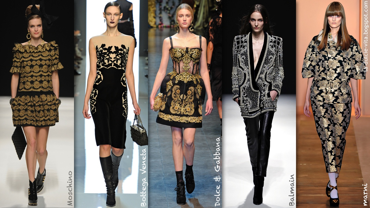La Dulcie Vita Festivals Fashion Frolicking Trend Autmn Winter 2012 Baroque