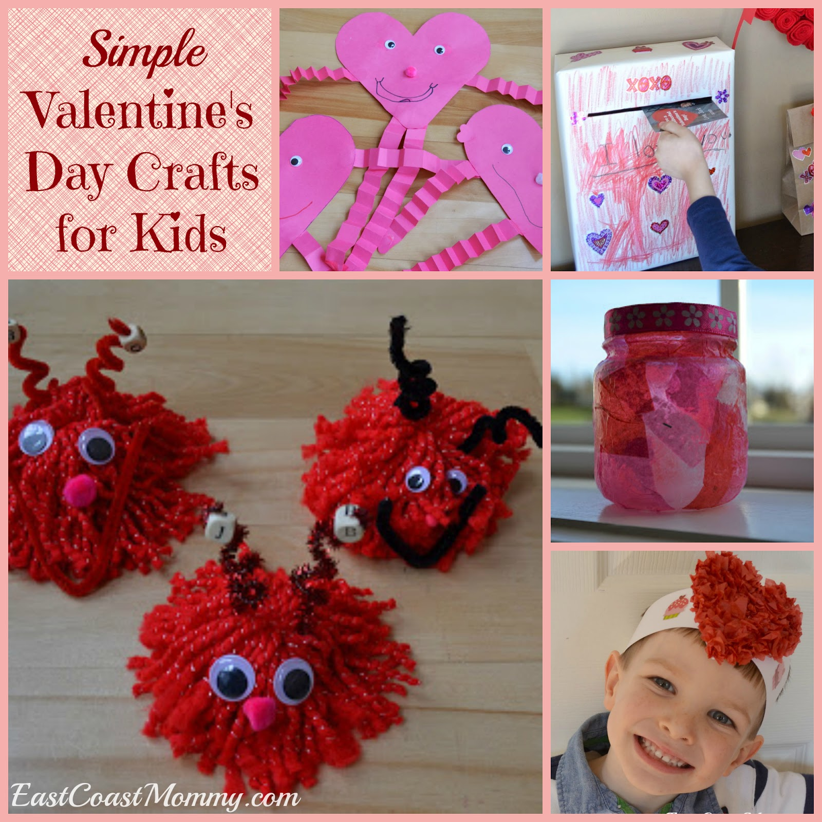 East coast mommy february 2016 for Valentine day crafts for kids