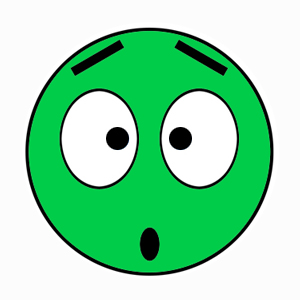 Green Smiley with flat color
