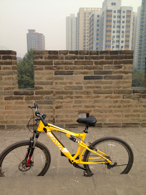 Cycling on the Xi'an Wall