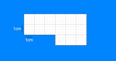 Figure: If each grey square is 1cm in width and length, then what is the area of the shape?
