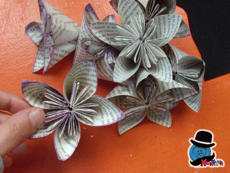 matrimonio chic con origami