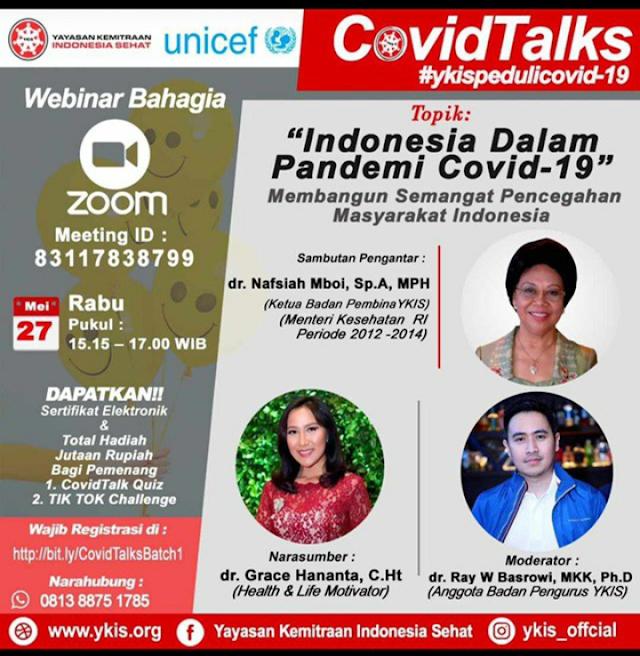 """Covid Talk: """"Indonesia dalam Pendemi Covid-19"""""""