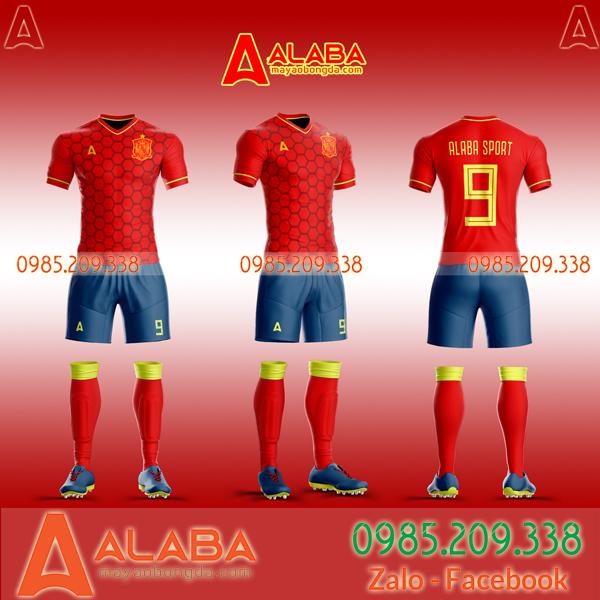 Áo đá bóng Tây Ban Nha mới nhất