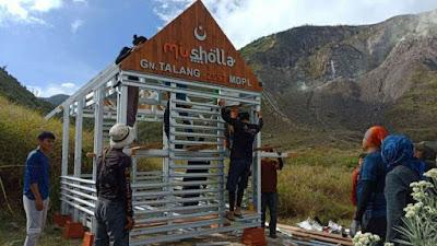Berada di 2500 mdpl, Musholla di Gunung Talang ini Diresmikan Rektor Unand