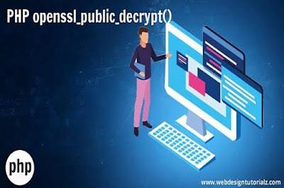 PHP openssl_public_decrypt() Function