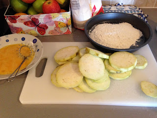 Berenjenas fritas, preparación 1