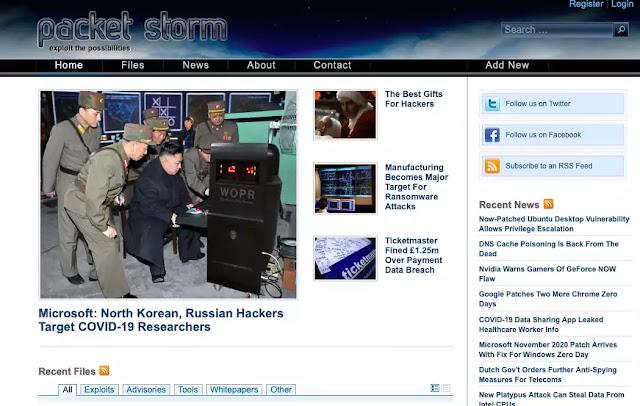 Packet Storm homepage