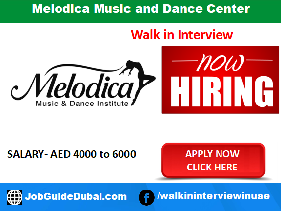Melodica Music and Dance Center  career for HR Administrator and PRO jobs in Dubai UAE