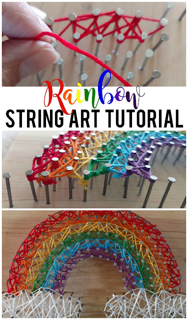 Top 10 posts of 2017: Rainbow String Art Tutorial