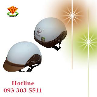 Sản xuất mũ bảo hiểm nửa đàu, nón bảo hiểm quà tặng, mũ bảo hiểm giá rẻ, nón bảo hiểm quảng cáo tại Hồ Chí Minh