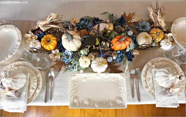 Mesa durante mi Cena de Acción de Gracias