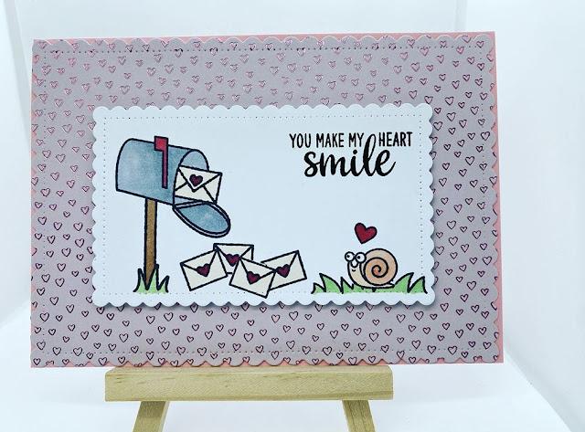 Sunny Studio Stamps: Snail Mail Customer Card by Bastelfine