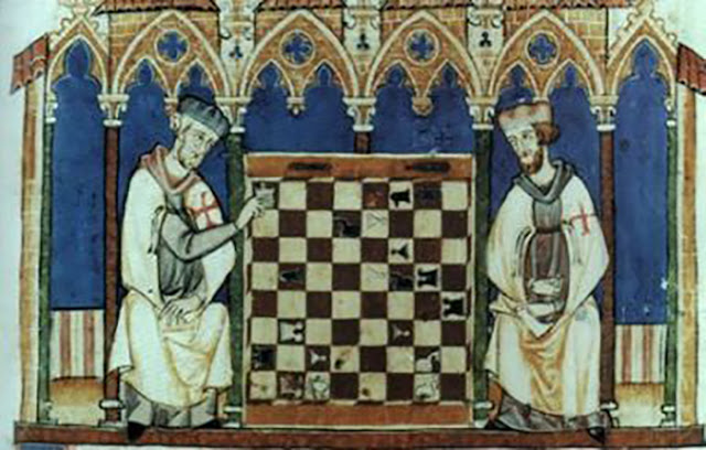 Representação medieval do Grão-Mestre dos Cavaleiros Templários
