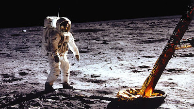 Apollo 11 2019 documentary movie still Neil Armstrong on the moon