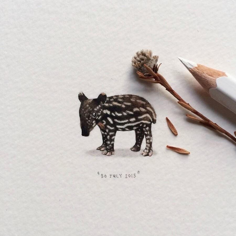 08-Baby-Tapir-Lorraine-Loots-Tiny-Art-www-designstack-co