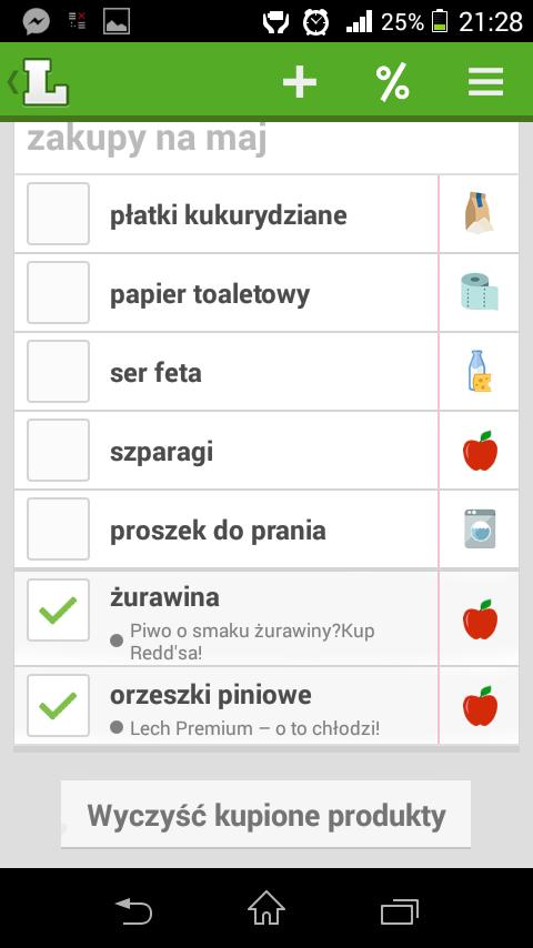 listonic - wygodna lista zakupów