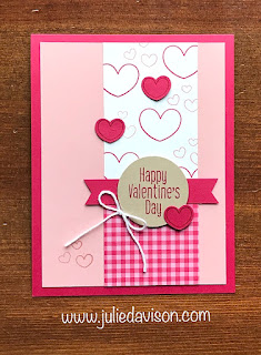 VIDEO Tutorial: 3 Stampin' Up! To Every Season Spiral Pop Up Cards ~ 2019 Holiday Catalog ~ www.juliedavison.com #stampinup #valentine