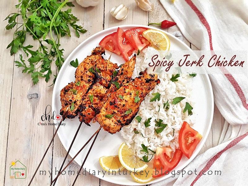 SPICY JERK GRILLED CHICKEN / AYAM BAKAR BUMBU PEDAS | Çitra's Home Diary. #jerkchicken #chickenrecipe #grilledchicken #summergrill #ayambakar #ayambumbupedas #asianfood #Indonesiancuisine #grilledchicken