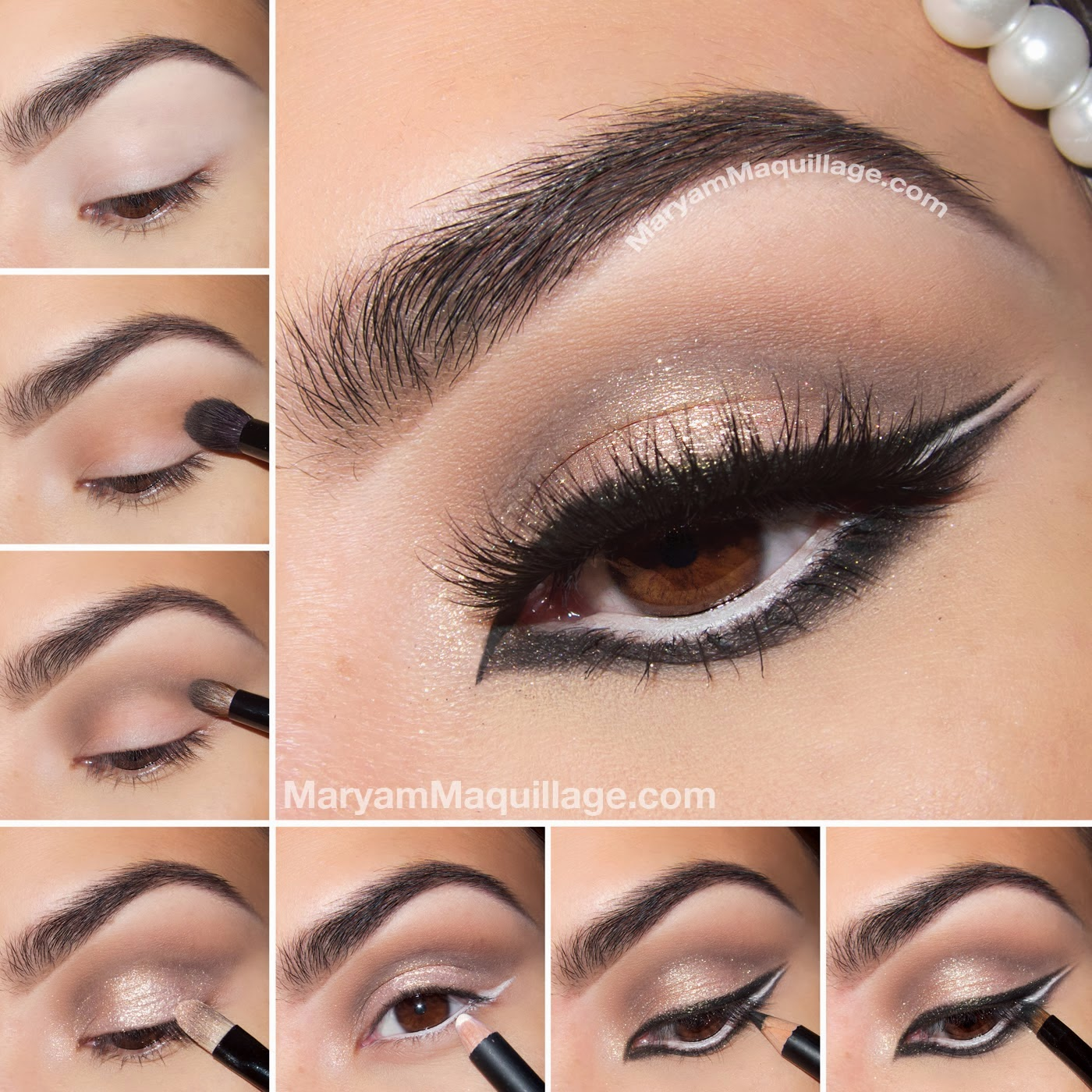 Bridal Eye Makeup Step By Instructions With Pictures Nail Art